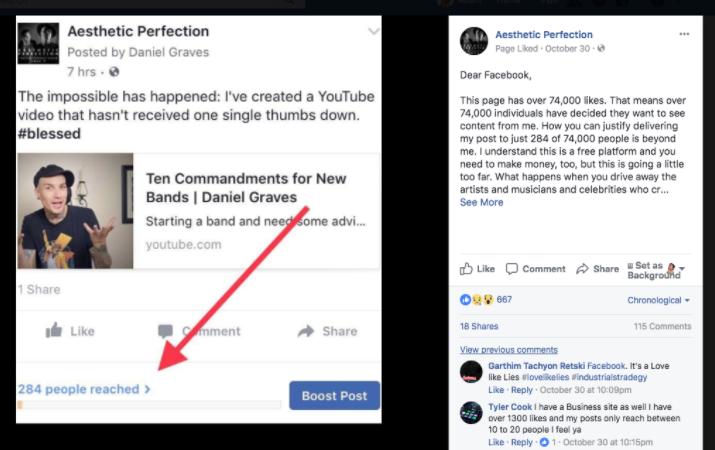 facebook reach vanity metrics